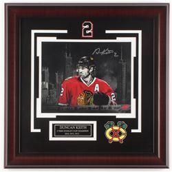 Duncan Keith Signed Chicago Blackhawks 18x18 Custom Framed Photo Display (Your Sports Memorabilia St