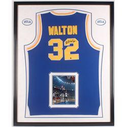Bill Walton Signed 34.25x42 Custom Framed Jersey Display (Steiner COA)