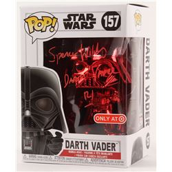 """Spencer Wilding Signed """"Star Wars"""" - Darth Vader #157 - Rare Target Red Card Exclusive - Funko Pop!"""