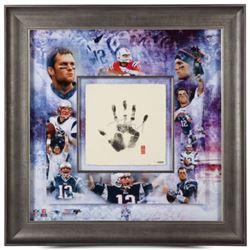 Tom Brady Signed New England Patriots 36x36 Custom Framed Limited Edition Tegata (UDA COA)