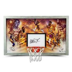 "Magic Johnson Signed LE Los Angeles Lakers ""Champion"" 18.5x30.5 Custom Framed Backboard Display (UDA"