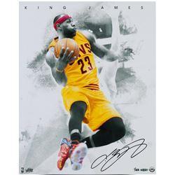 LeBron James Signed Cleveland Cavaliers 16x20 LE Photo (UDA COA)