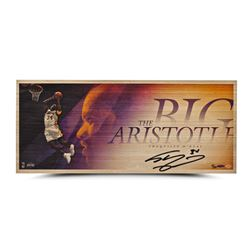 """Shaquille O'Neal Signed Los Angeles Lakers """"The Big Aristotle"""" 11x26 Limited Edition Bamboo Print (U"""