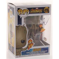 "Vin Diesel Signed ""Avengers Infinity War"" #410 Groot Funko Pop Figure (PSA COA)"