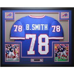 Bruce Smith Signed 35x43 Custom Framed Jersey (JSA COA)