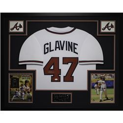 Tom Glavine Signed 35x43 Custom Framed Jersey (JSA COA)