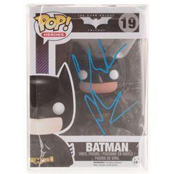 "Christian Bale Signed ""The Dark Knight Trilogy"" Batman #19 Funko Pop! Vinyl Figure (JSA COA)"