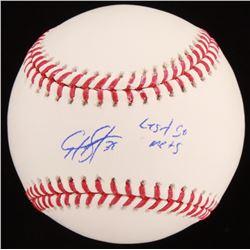"""Edwin Diaz Signed OML Baseball Inscribed """"Let's Go Mets"""" (JSA COA)"""