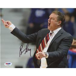 Bill Self Signed Kansas Jayhawks 8x10 Photo (PSA COA)