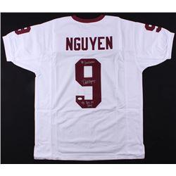 "Dat Nguyen Signed Jersey Inscribed ""'98 Lombardi""  ""'98 Big XII DPOY"" (JSA COA)"