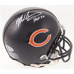 """Mike Singletary Signed Chicago Bears Mini Helmet Inscribed """"HOF 98"""" (Beckett COA)"""
