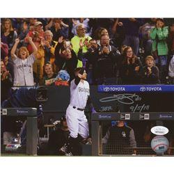 "Trevor Story Signed Colorado Rockies 8x10 Photo Inscribed ""3HR 9/5/18"" (JSA COA)"