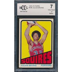 1972-73 Topps #195 Julius Erving RC (BCCG 7)