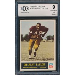 1965 Philadelphia #195 Charley Taylor RC (BCCG 9)