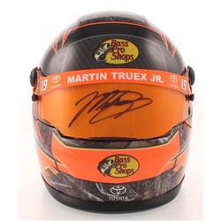 Martin Truex Jr. Signed NASCAR Bass Pro Shops 1:3 Scale Mini-Helmet (PA COA)