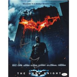 "Christian Bale Signed ""The Dark Knight"" 11x14 Photo with Inscription (JSA COA)"
