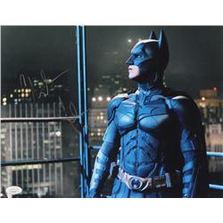 "Christian Bale Signed ""The Dark Knight"" 11x14 Photo (JSA COA)"