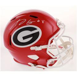A.J. Green Signed Georgia Bulldogs Full-Size Speed Helmet (Radtke COA)