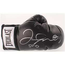 "Floyd Mayweather Signed Everlast Boxing Glove Inscribed ""50-0"" (Schwartz COA)"