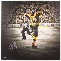 Torey Krug Signed Boston Bruins 39x39 Stretched Canvas Display (Krug COA)