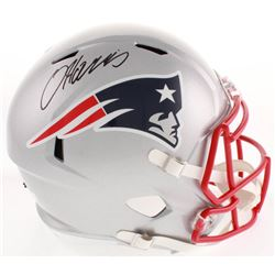 Damien Harris Signed New England Patriots Full-Size Speed Helmet (Radtke COA)
