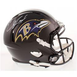 Ed Reed Signed Baltimore Ravens Full-Size Speed Helmet (Radtke Hologram)
