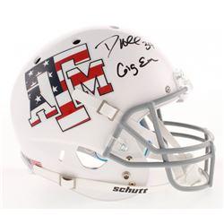 "Dante Hall Signed Texas AM Aggies ""USA"" Full-Size Helmet Inscribed ""Gig Em"" (Radtke COA)"