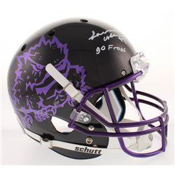 "L. J. Collier Signed TCU Horned Frogs Full-Size Helmet Inscribed ""Go Frogs"" (Radtke COA)"