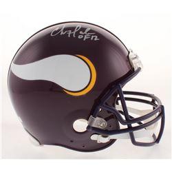"Chris Doleman Signed Minnesota Vikings Throwback Full-Size Authentic On-Field Helmet Inscribed ""HOF"