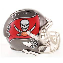 Devin White Signed Tampa Bay Buccaneers Full-Size Speed Helmet (Radtke COA)