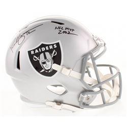 """Rich Gannon Signed Oakland Raiders Full-Size Speed Helmet Inscribed """"NFL MVP 2002"""" (Radtke COA)"""