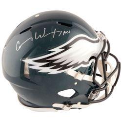 "Carson Wentz Signed Philadelphia Eagles Full-Size Authentic On-Field Speed Helmet Inscribed ""AO1"" (F"