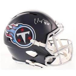 Chris Johnson Signed Tennessee Titans Full-Size Speed Helmet (Radtke COA)