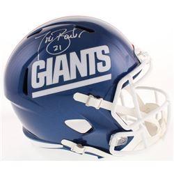 Tiki Barber Signed New York Giants Color Rush Full-Size Speed Helmet (Radtke Hologram)