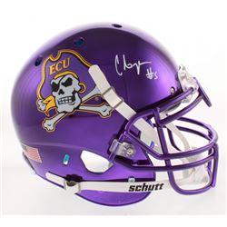 Chris Johnson Signed East Carolina Pirates Full-Size Chrome Authentic On-Field Helmet (Radtke COA)