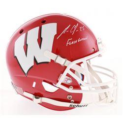 "Melvin Gordon Signed Wisconsin Badgers Full-Size Helmet Inscribed ""Flash Gordon"" (Radtke COA)"