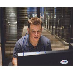 "Matt Damon Signed ""The Departed"" 8x10 Photo (PSA COA)"