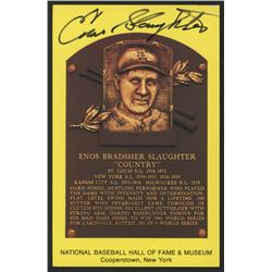 Enos Slaughter Signed Cardinals Hall of Fame Postcard (Slaughter Collection LOP)