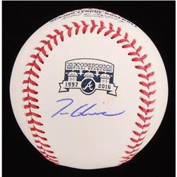 Tom Glavine Signed Turner Field Commemorative OML Baseball (Radtke Hologram)
