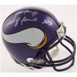 """Brett Favre Signed Minnesota Vikings Mini Helmet Inscribed """"Hall of Fame 2016"""" (Radtke COA)"""