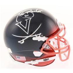 Tiki Barber Signed Virginia Cavaliers Chrome Mini Helmet (Radtke Hologram)