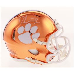 Dexter Lawrence Signed Clemson Tigers Chrome Speed Mini Helmet (Radtke COA)