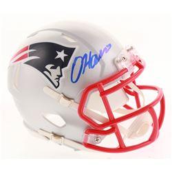 Damien Harris Signed New England Patriots Speed Mini-Helmet (Radtke COA)