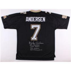 Morten Andersen Signed New Orleans Saints Jersey with Multiple Inscriptions (Radtke COA)