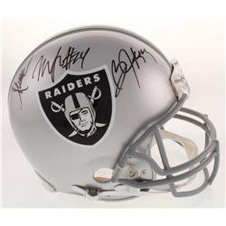 Marcus Allen, Marshawn Lynch  Bo Jackson Signed Oakland Raiders Full-Size Authentic On-Field Helmet