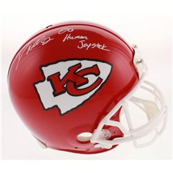 "Dante Hall Signed Kansas City Chiefs Full-Size Authentic Helmet Inscribed ""OG Human Joystick"" (Radtk"