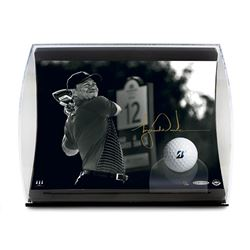 """Tiger Woods Signed """"Gold Drive"""" 5.5x7x11 Limited Edition Curve Display (UDA COA)"""