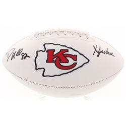 "Dante Hall Signed Kansas City Chiefs Logo Football Inscribed ""X Factor"" (Radtke COA)"