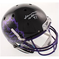 L. J. Collier Signed TCU Horned Frogs Full-Size Helmet (Radtke COA)