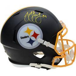 JuJu Smith-Schuster Signed Pittsburgh Steelers Full-Size Matte Black Speed Helmet (Fanatics Hologram